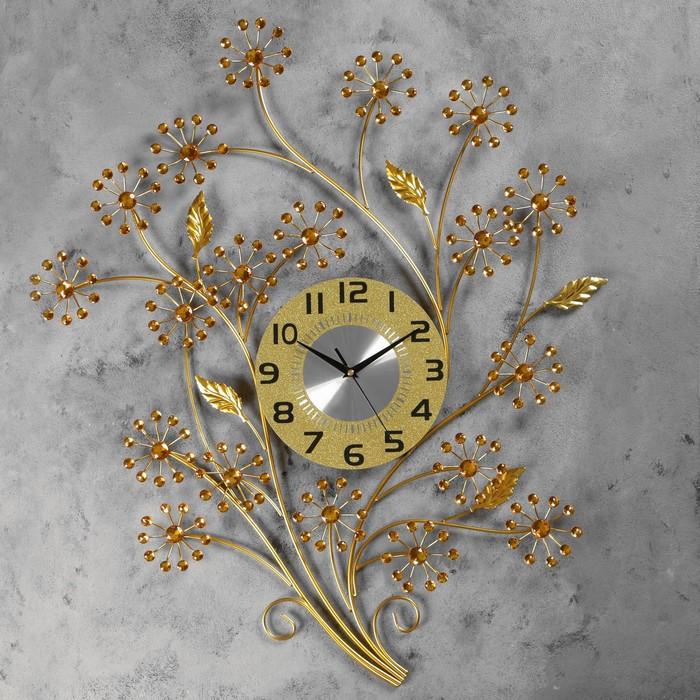 """Часы настенные, серия: Ажур, """"Пазар"""" 60х78 см, d=22 см, 1 АА, плавный ход"""