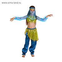 """Карнавальный костюм """"Алсу. Морская волна"""", повязка, топ с рукавами, штаны, р-р 32, рост 122-128 см"""