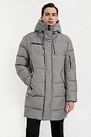 Удлиненное мужское пальто Finn Flare, цвет серый, размер 2XL