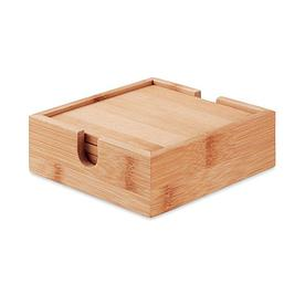 Набор из 4 костеров из бамбука, MENDI