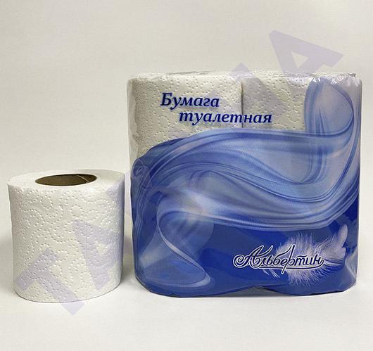 Бумага туалетная белая