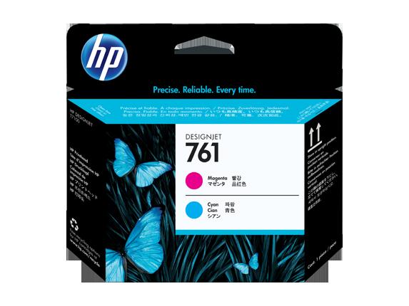 HP CH646A Печатающая головка пурпурная и голубая HP 761 для Designjet T7100, T7200