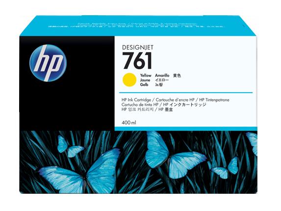 HP CM992A Картридж желтый HP 761 для Designjet T7100, 400 ml