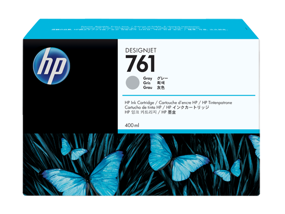 HP CM995A Картридж серый HP 761 для Designjet T7100, 400 ml