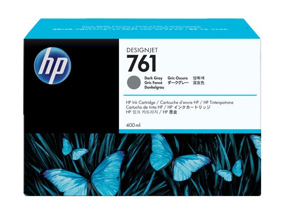 HP CM996A Картридж темно-серый HP 761 для Designjet T7100, 400 ml