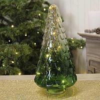 Glass christmas tree with LED