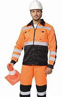 """Костюм """"Магистраль-Специалист"""" куртка, п/комб, оранж. с синим и СОП"""