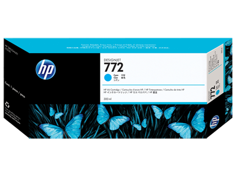 HP CN636A Картридж голубой HP 772 для Designjet Z5200/Z5400, 300 мл