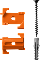 Набор СКШМ в комплекте с дюбелем и саморезом ВИНТ-Н25, ЗУБР, 25 шт. (3095-Н25)