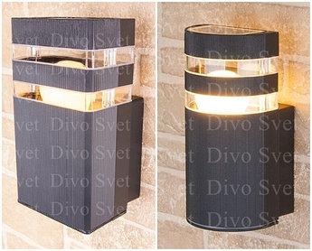 """Корпус светильника """"Techno"""" односторонний с Е27, настенный, декоративный, уличный, для подсветки стен, заборов"""