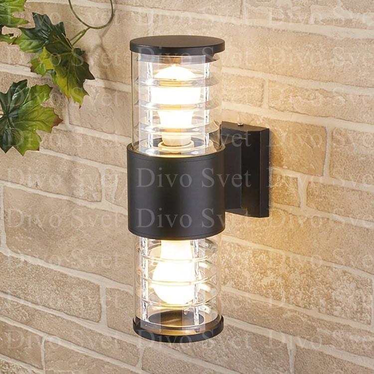 Корпус светильника двухсторонний с Е27, настенный, декоративный, уличный, для подсветки стен, заборов