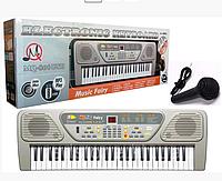 Детский пианино синтезатор MQ 806 орган 54 клавиши USB (МP3) + микрофон. 2 динамика. Работает от сети.