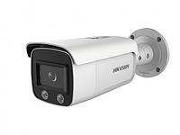 DS-2CD2T47G2-L - 4Мп уличная цилиндрическая IP-камера с LED-подсветкой до 60м