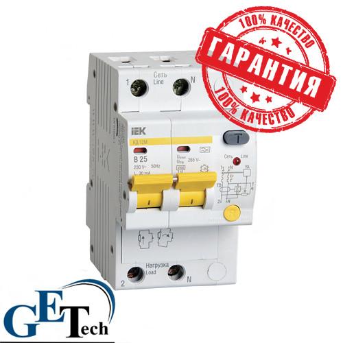 УЗО АД 12М  2Р 16А,  25А,  32А / Дифференциальный автоматический выключатель АД12М IEK