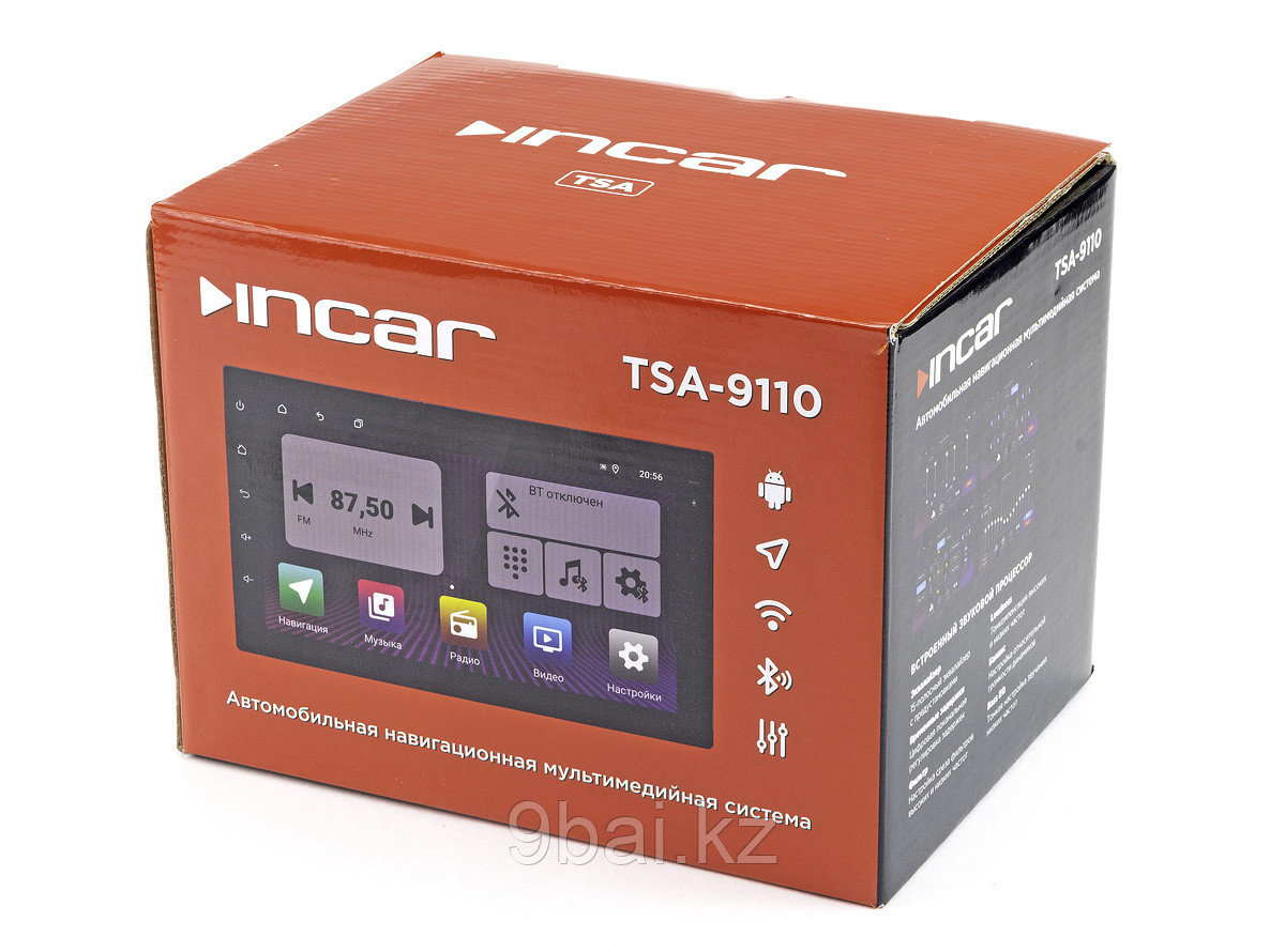"""ГУ Universal  7"""" INCAR TSA-9110 Android 10/1024*600, wi-fi, DSP, 4Gb+64, 2- in AHD камера, 4*55 Mosfet, BT, 4V"""