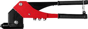 Заклепочник поворотный ЗУБР, литой корпус, 0-360°, вытяжные 2.4-4.8 мм  (31191_z01)