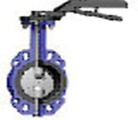 Дисковый поворотный затвор серии Т-0910 с диском из никелированного ковкого чугуна (DUYAR VANA)