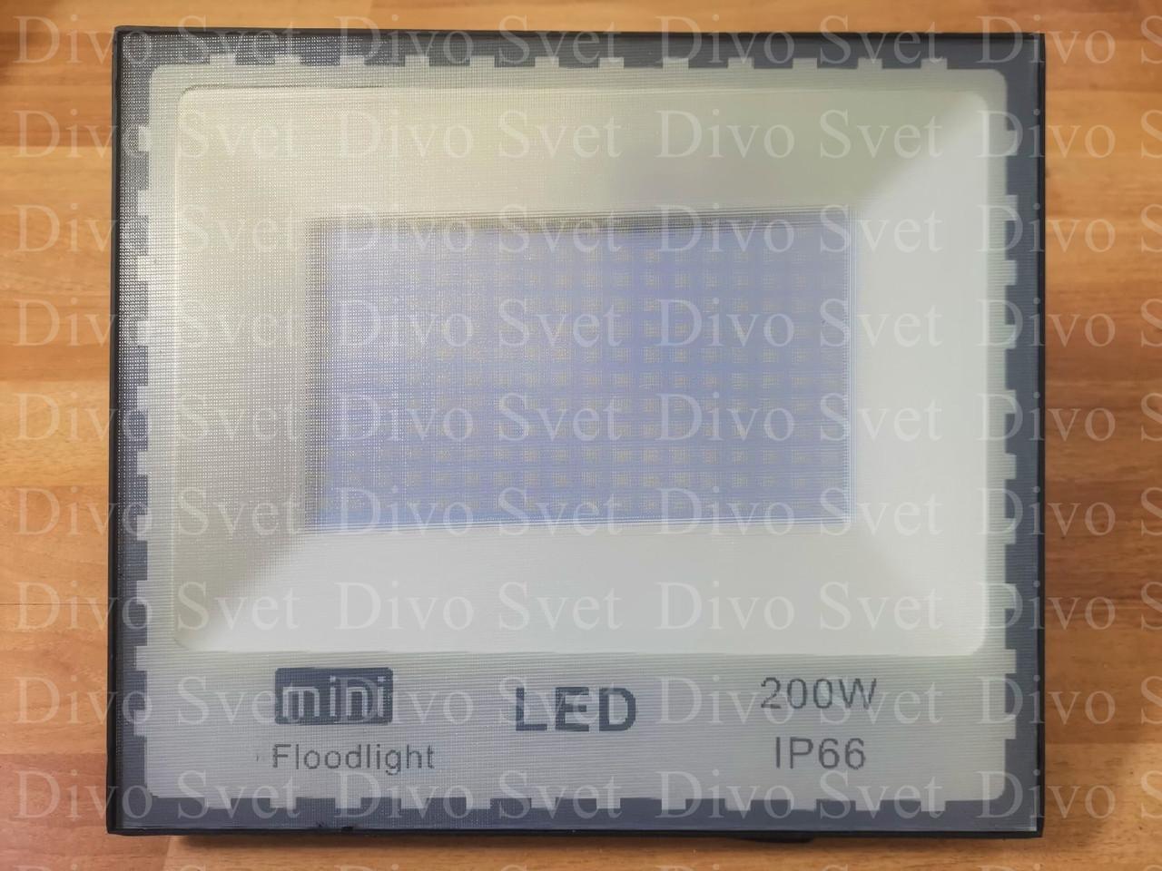 """Прожектор светодиодный """"Mini"""" 200W """"Стандарт"""" серия, эконом. LED Прожекторы освещения 200 Ватт."""