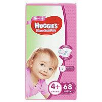 Huggies Ultra Comfort Подгузники для девочек размер 4+ (10-16 кг) 68 шт