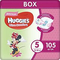 Huggies Ultra Comfort Подгузники для девочек размер 5 Box (12-22 кг) 105 шт