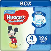 Huggies Ultra Comfort Подгузники для мальчиков размер 4 Box (8-14 кг) 126 шт
