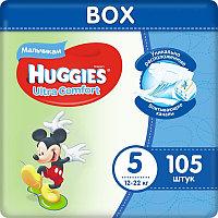 Huggies Ultra Comfort Подгузники для мальчиков размер 5 Box (12-22 кг) 105 шт