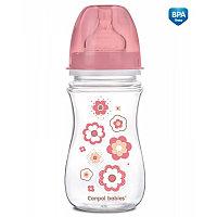 Canpol Babies Бутылочка с широким горлышком антиколик EasyStart с 3 мес 240 мл розовая ID35/217