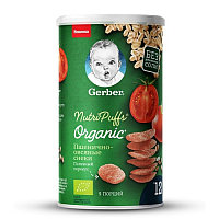 Gerber Снэки пшенично-овсяные Organic со вкусом Томата и моркови 35 гр