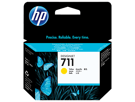 HP CZ132A Картридж желтый HP 711 для Designjet T120/T520 ePrinter, 29 ml
