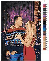 Картина по номерам красками 80х80см по фото без подрамника