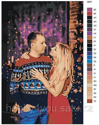 Картина по номерам красками 80х80см по фото без подрамника, фото 2