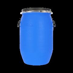Бочка пластиковая 65 литров с крышкой и хомутом