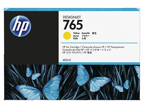 HP F9J50A Картридж желтый HP 765 для Designjet T7200