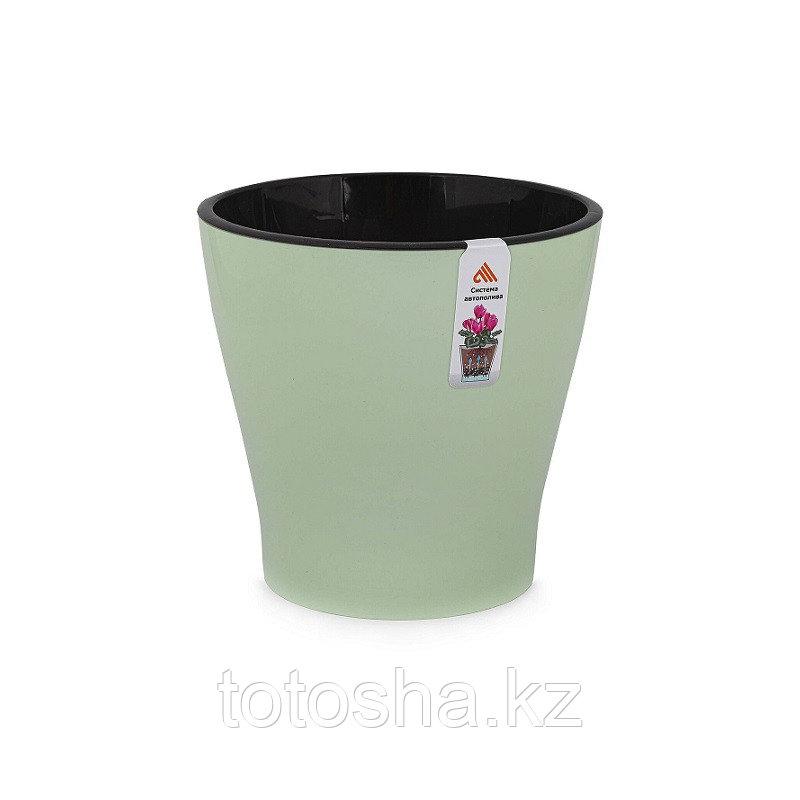 Горшок для цветов 3,6 л с автоподливом Лея двойной М8268, оливковый ,без поддона