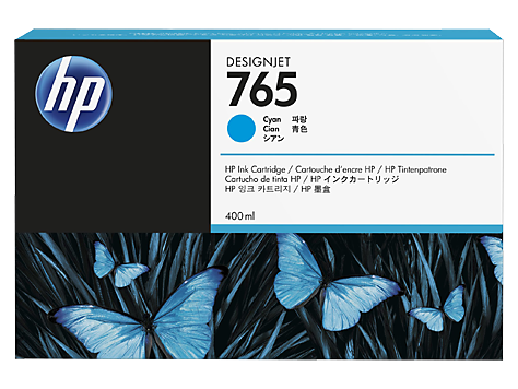 HP F9J52A Картридж голубой HP 765 для Designjet T7200