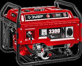 """Бензиновый генератор ЗУБР, 3.3 кВт, с электростартером,  серия """"Мастер"""" (СБ-3300Е)"""