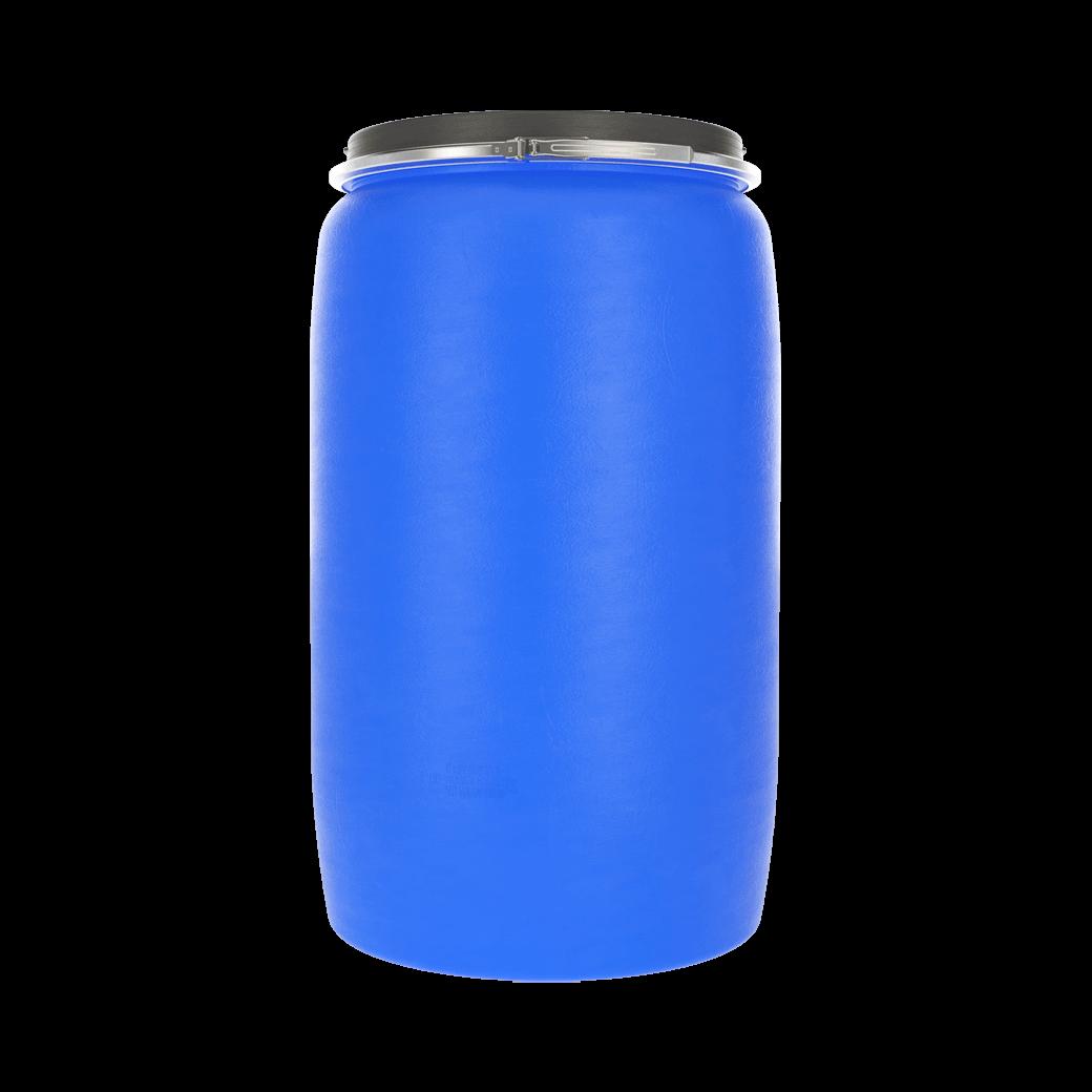 Бочка пластиковая 227 литров с крышкой и хомутом