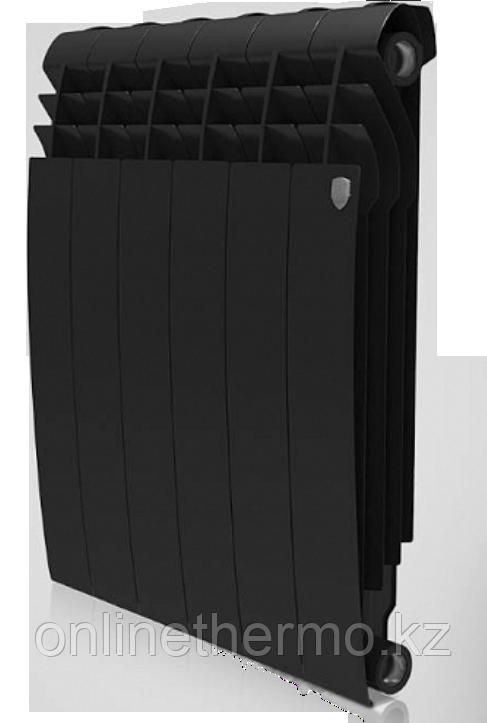 Радиатор биметаллический Biliner 500/90 Royal Thermo черный выпуклый (РОССИЯ) - фото 1