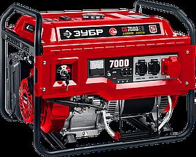 Бензиновый генератор ЗУБР, 7 кВт, с электростартером, 220/380В (СБ-7000Е-3)