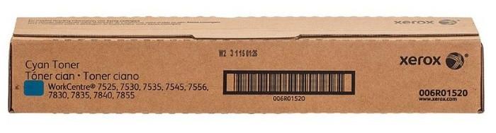 XEROX 006R01520 Тонер-картридж Cyan, ресурс 15000 стр., для WorkCentre 7525/7530/7535/7545/7556