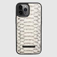 Чехол для телефона iPhone 12 Pro Max питон натуральный
