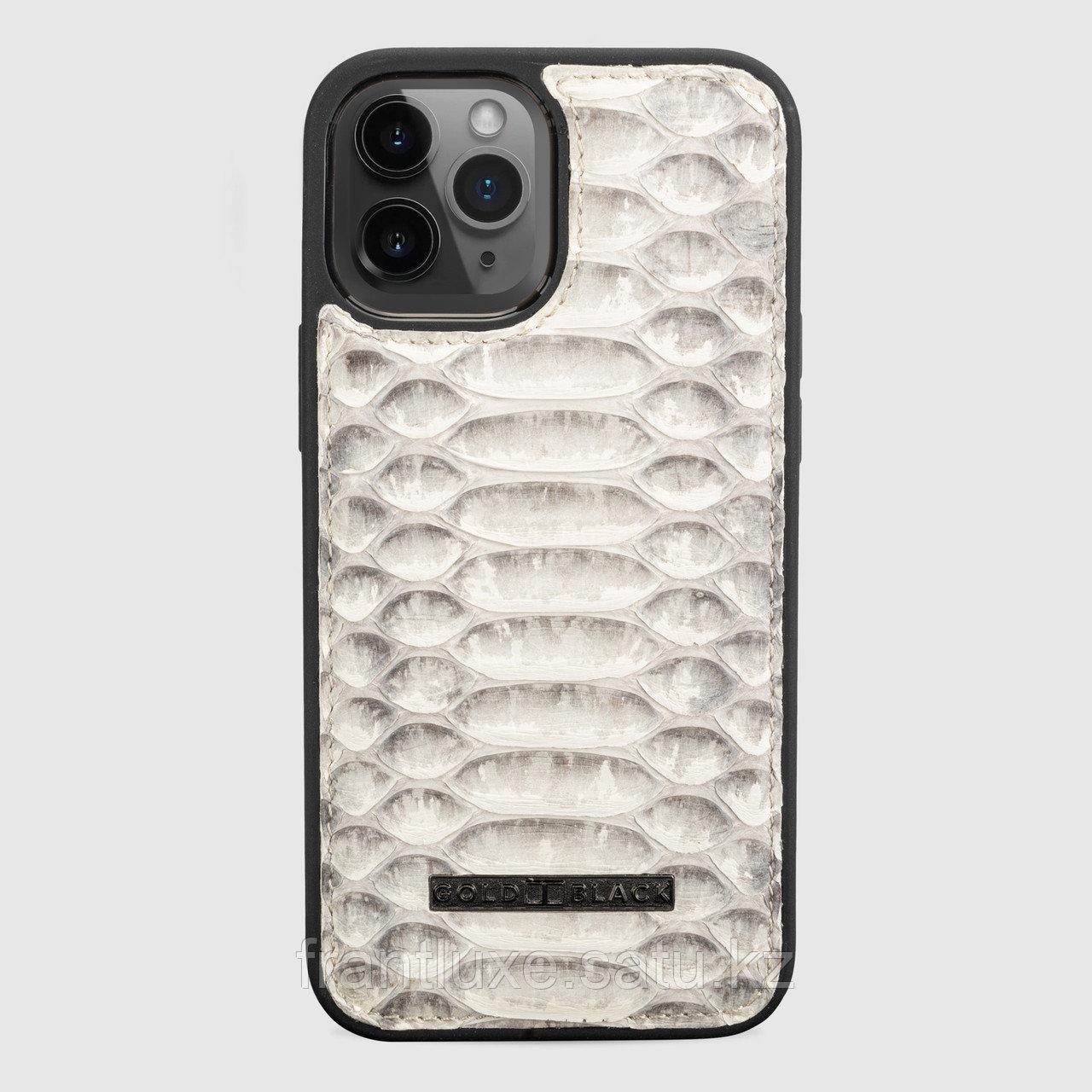 Чехол для телефона iPhone 12 Pro Max питон натуральный - фото 1