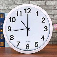 Настенные часы Quartz диаметр 30 белые S2288