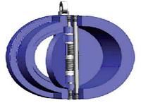 Клапан обратный межфланцевый двухстворчатый DUYAR T-0330