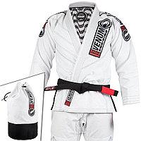 Кимоно для джиу-джитсу Venum Elite Light  белое ,чёрное сумка в комплекте, фото 1