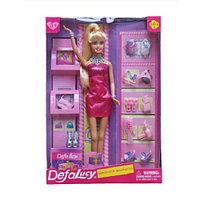Кукла Defa с обувью и аксессуарами 8233 purple
