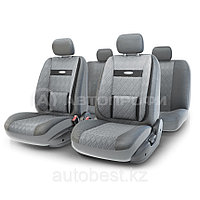 Чехлы на сиденья Comfort COM комбинированные с экокожей. Серые чехлы Автопрофи