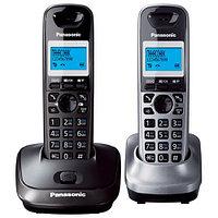 DECT-телефон Panasonic, 2 трубки, 120 контактов, Чёрный [KX-TG6812RUB]