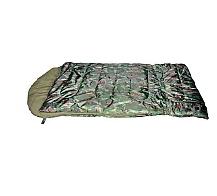 Спальный мешок INUK CAMO (2,27кГ)(218х114+38см)(-30ºC)(камуфляж) - c внутренним одеялом