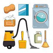 Стирка, глажка, сушка, хранение вещей и обуви